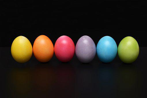 Easter Eggs, Colorful, Easter