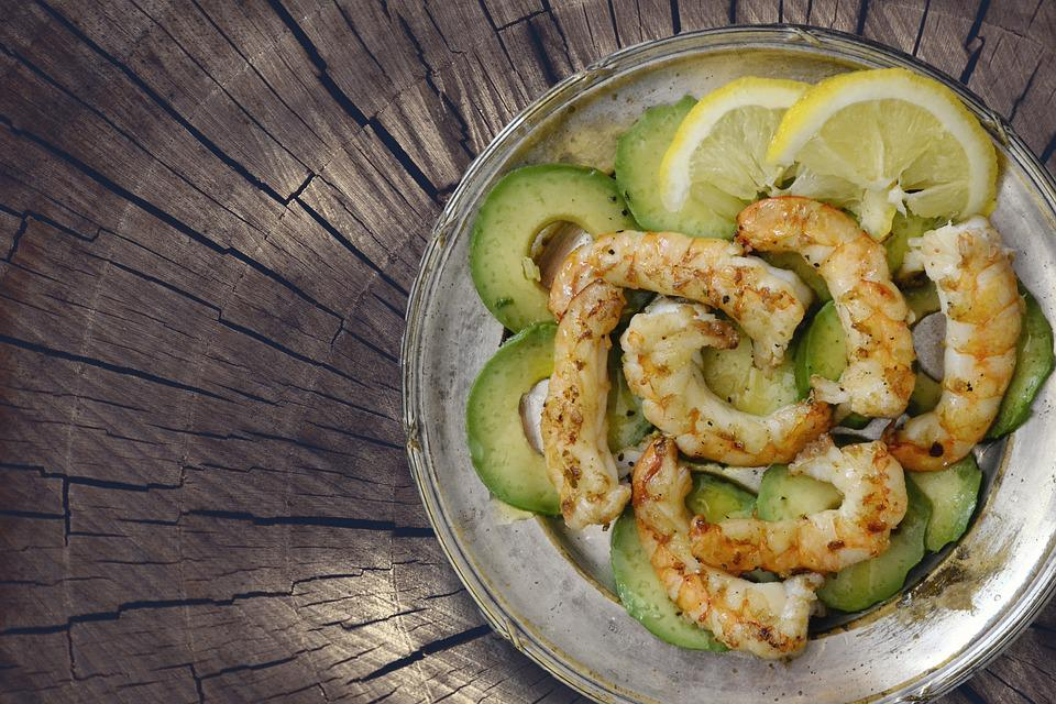 Shrimps, Seafood, Avocado, Prawns, Food, Cuisine