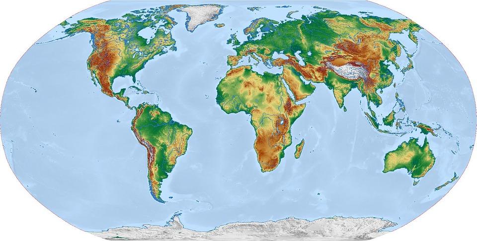 Karte Erde.Welt Karte Weltkarte Kostenloses Bild Auf Pixabay