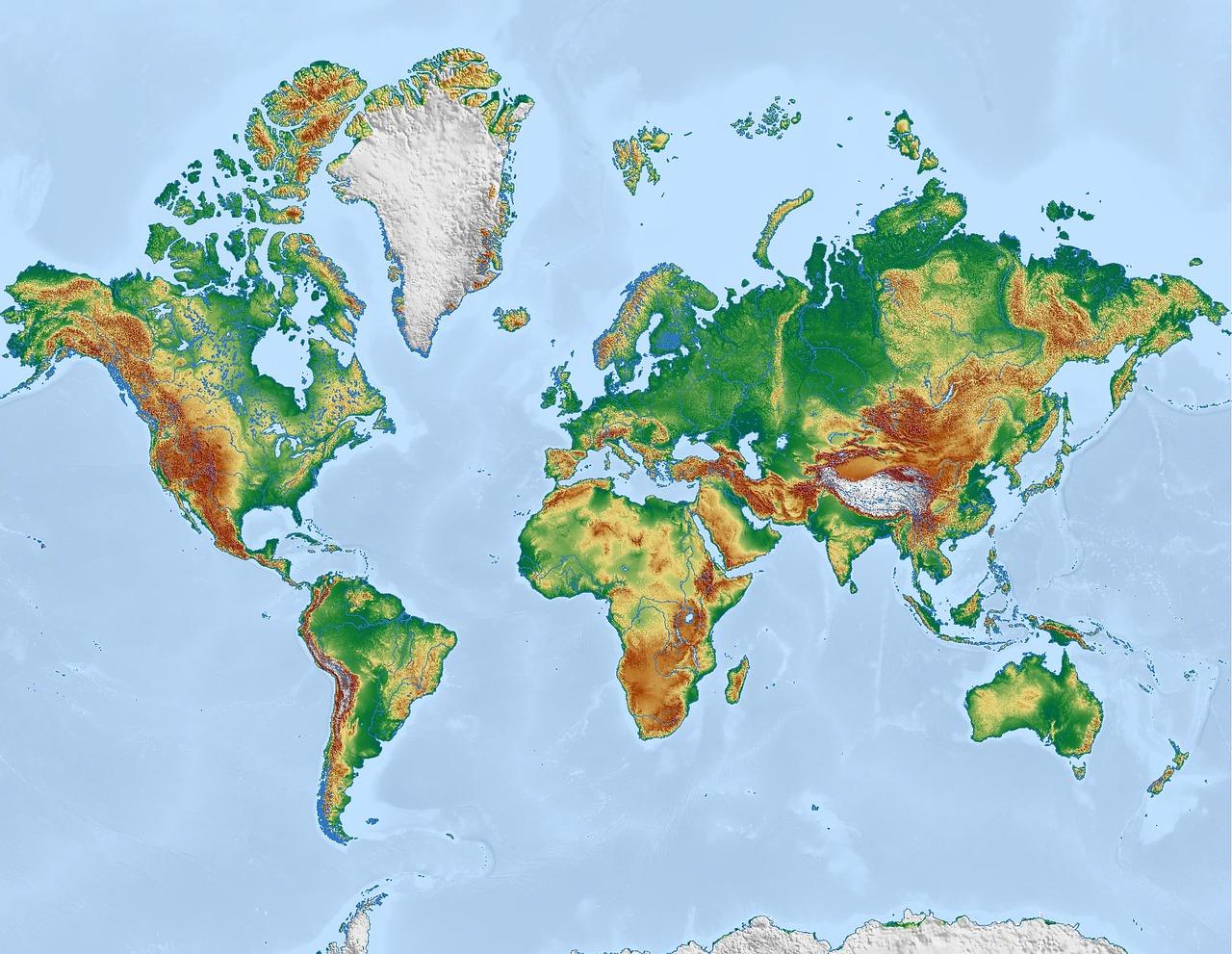 Континенты мира в картинках