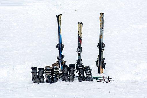 Ski, Skischuhe, Ausrüstung, Skifahren