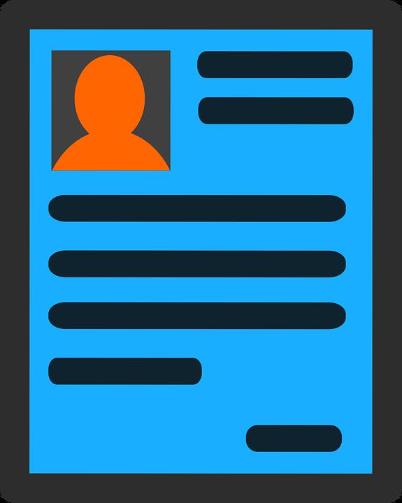 Zivotopis Zadost Zamestnani Ikona Vektorova Grafika Zdarma Na Pixabay