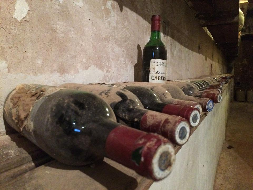 Wine, Bottle, Cellar, Old, Collection, Wine Bottle