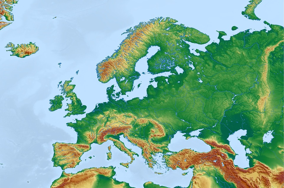 Europe Map Physical - Free image on Pixabay