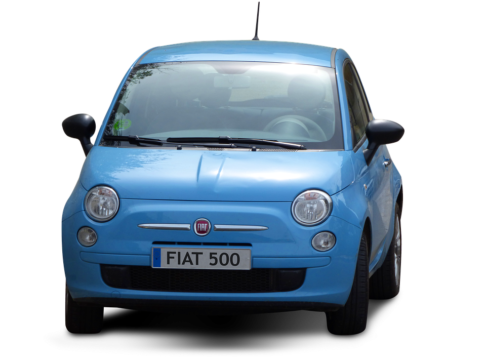 car transparent background fiat fiat 500 blue car