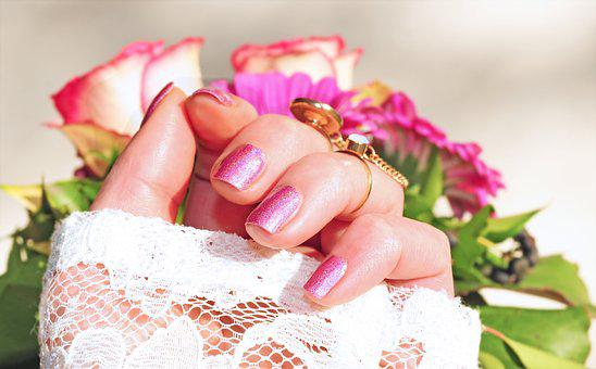 Roses Pink Nail Varnish Beauty Manicure Fi