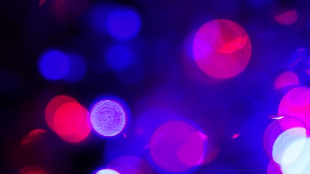 Lights Bokeh Blue Purple Led Bright Red Bl