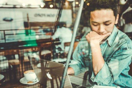 仕事, 人, 生活, 考え方, 日常, コーヒーカップ, ガラスのドア