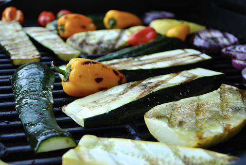 Grilled Vegetables, Grilled, Grilling