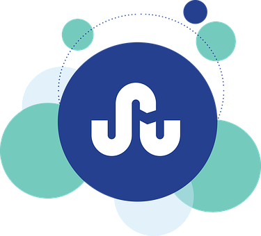 Several circles in blue and light green with the big blue one carrying the StumbleUpon logo of a big S with a small u after it