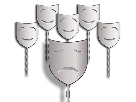 Masks, Faces, Mourning, Joy, Bullying