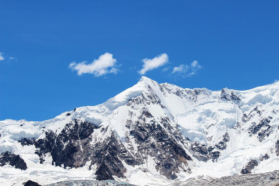 blue sky snow mountain  u00b7 free photo on pixabay