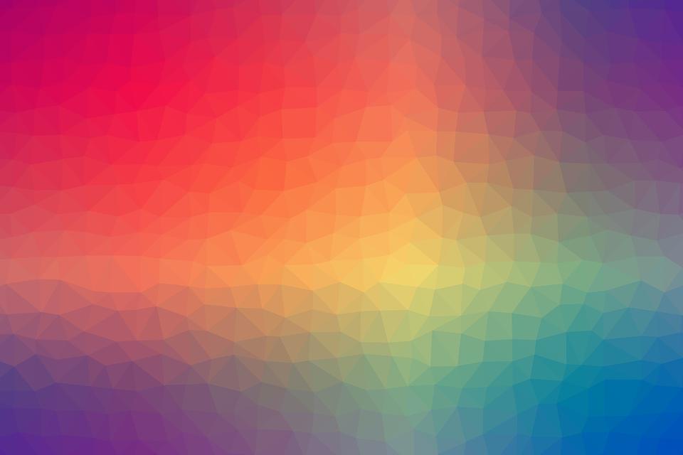 カラフル, 虹, 勾配, 幾何学的, 形, 三角形, テクスチャード, 要約, バックグラウンド, パターン