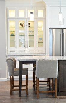 Kitchen Cabinet Counter Chair Refrigerator