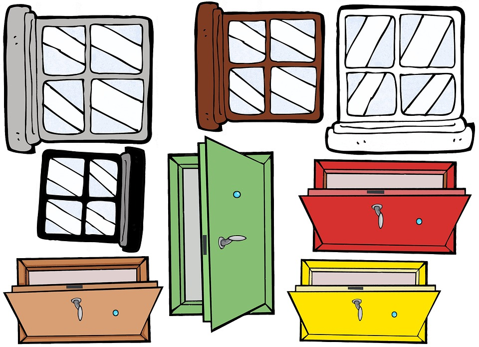 free illustration doors cartoon windows window free