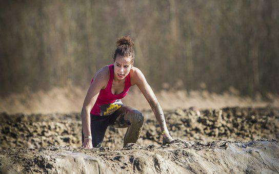 Girl, Woman, Lady, Obstacle Run