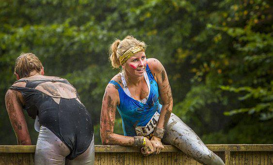 Lady, Woman, Obstacle Run, Mud, Mud Race