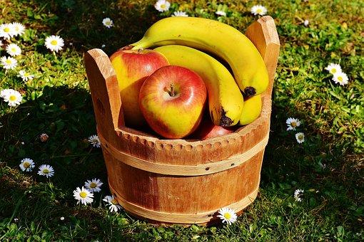 Basket, Wood, Fruit, Fruit Basket