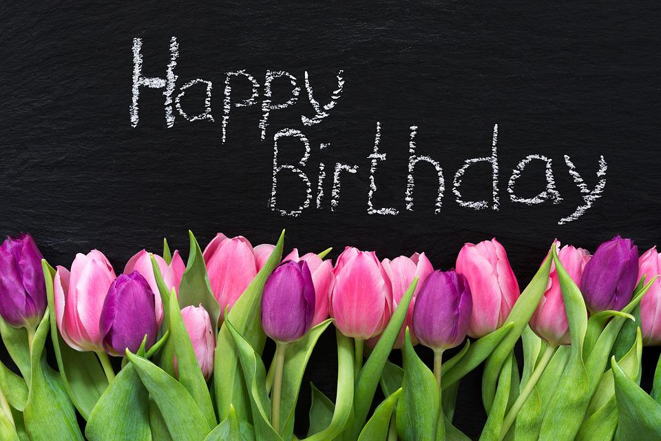 Flowers Spring Birthday Greeting Free Photo On Pixabay