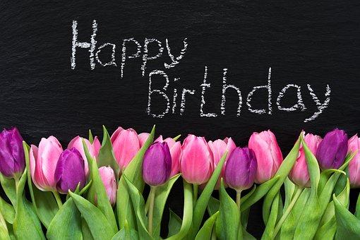 Großartig Blumen, Frühling, Geburtstag, Grußkarte