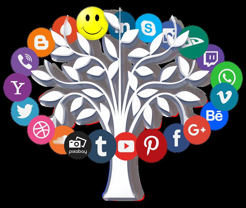 Online, Internet, Icon, Tree, Leaves, Symbols, Www, Web