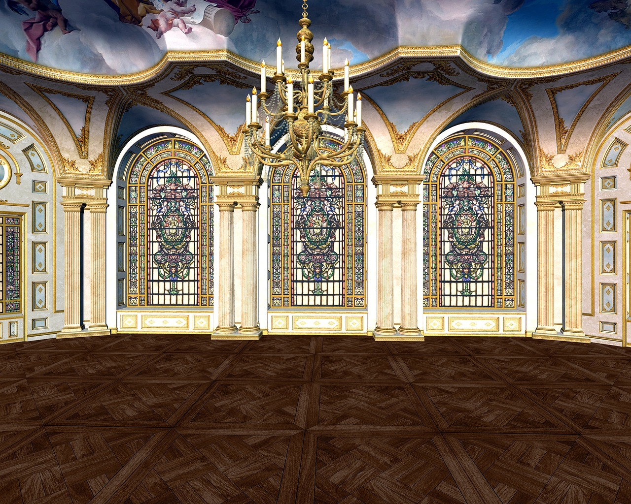 Зал сказочного замка картинки