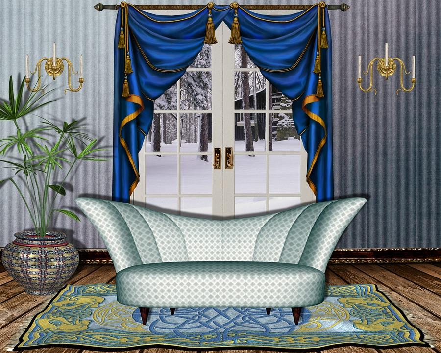 Innenraumfenster  Kostenlose Illustration: Innenraum, Fenster, Sofa - Kostenloses ...
