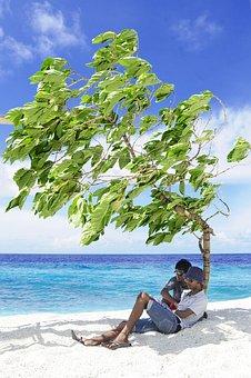 Atoll, Beach, Couple, Destination