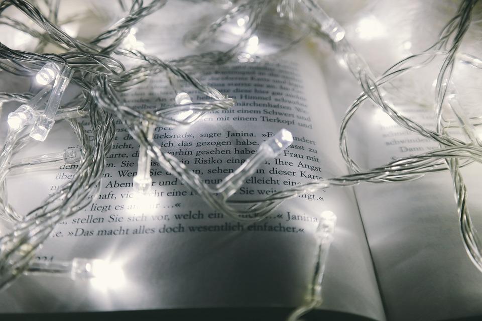 Abstrakti, Art, Hämärtää, Kirja, Kirkas, Joulu
