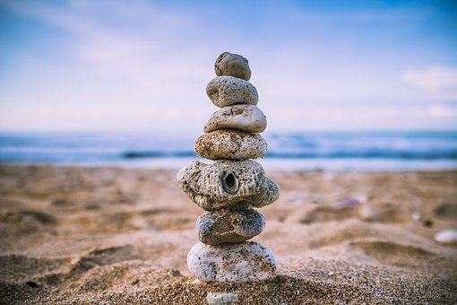 Beach, Balance, Wallpaper, Rock, Sand