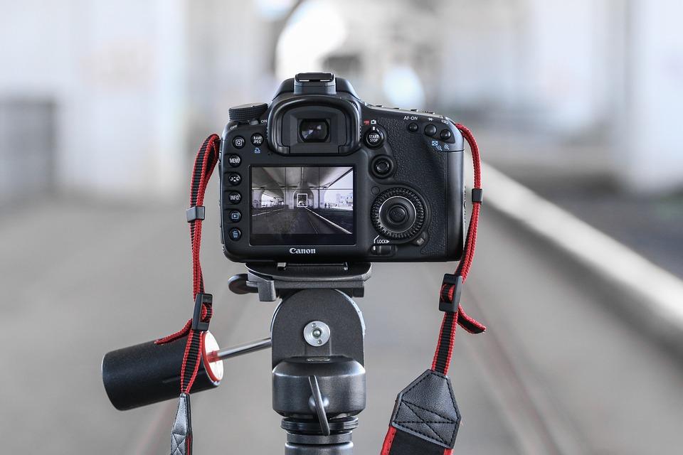 カメラ, 写真, フォト, 機器, デジタル カメラ, 近代的な, 技術, 三脚, グレーの技術