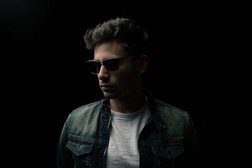 Man, Sun Glasses, Jacket, Portrait, Male