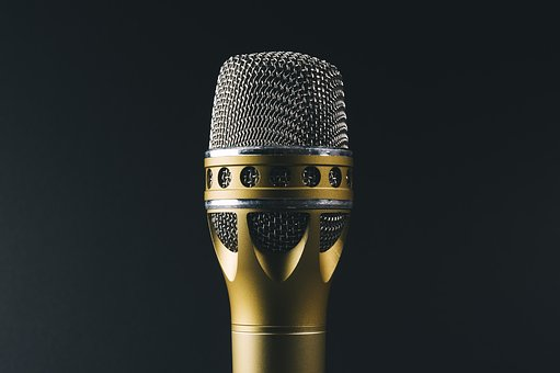 Audio, Classic, Gold, Metal, Mic
