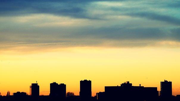 Architecture, Backlit, Buildings, City