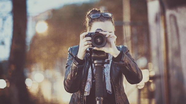 Photographe, Adulte, Femme, Photo, Image