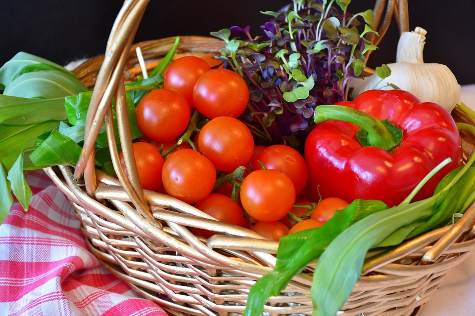 High Quality Vegetables, Basket, Purchasing, Market