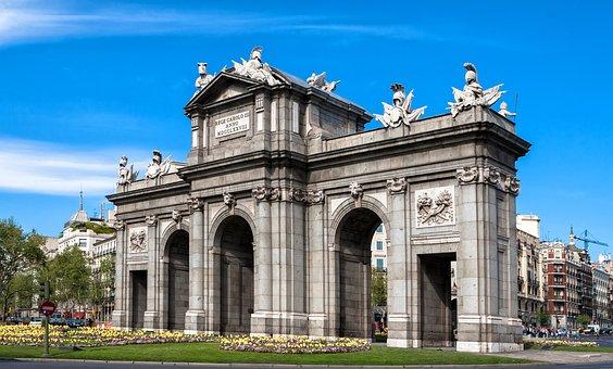 Madrid Monumento Puerta De Alcal Arquitec