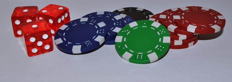 Chips, Cube, Gambling, Casino