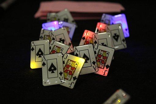 Poker, Pins, Ace, Jack, Cards, Lights