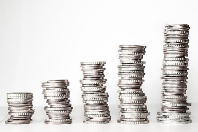 お金, コイン, スタック, 積み上げコイン, ルース ・ チェンジ, お金を増やす, マネータワー, ユーロ