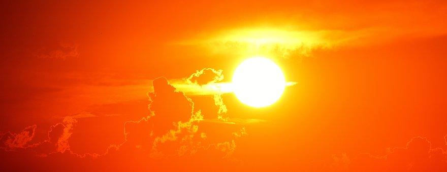 Sunset, Evening, Romantic, Sun