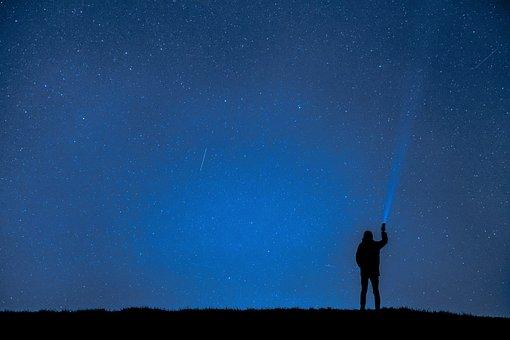 Foto Malam, Sos, Pertolongan, Survival, Sinyal, Langit Malam