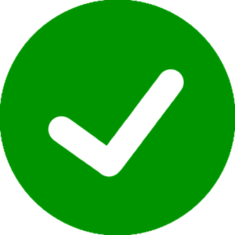 Afbeeldingsresultaat voor groene vinkje icoontje