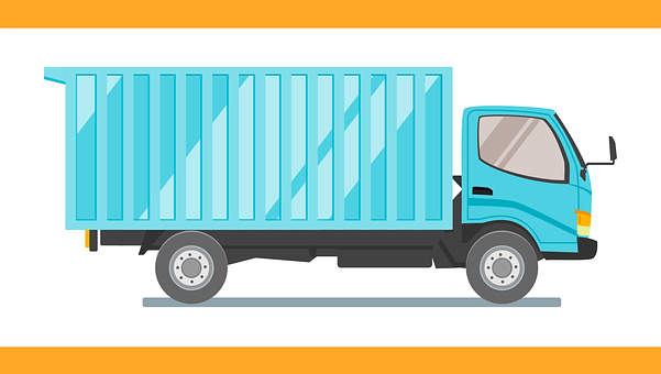 Truck, Box, Car, Vehicle, Delivery