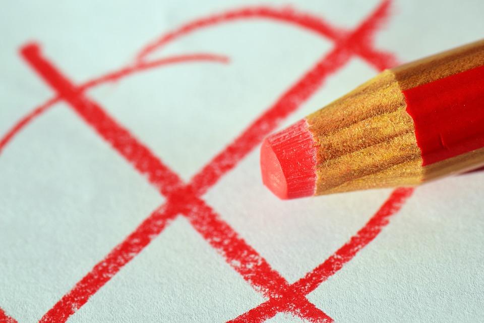 Stift, Rotstift, Ankreuzen, Wahl, Wahlen, Entscheiden
