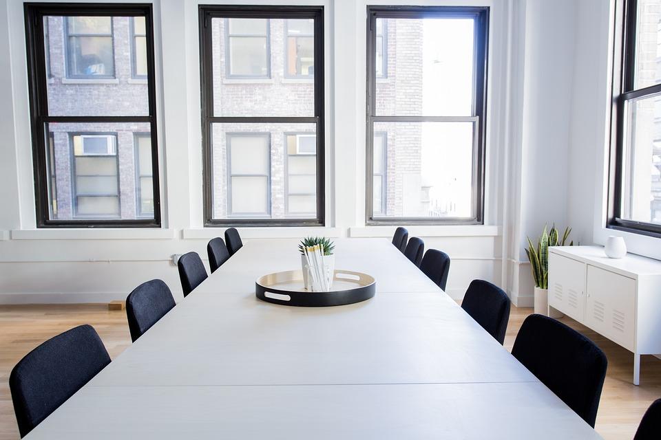 椅子, 空, オフィス, ルーム, テーブル, 窓