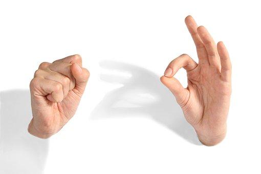 Ręce, Ok, Minimalizm, Pięść, Kobiet Ręce
