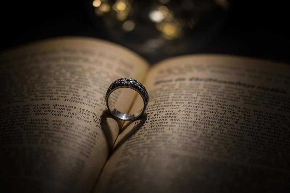 Ring Heart Book Font Love Wedding Ring Mar