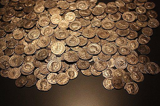 Coins, Old, Roman, Gold Coins, Antique