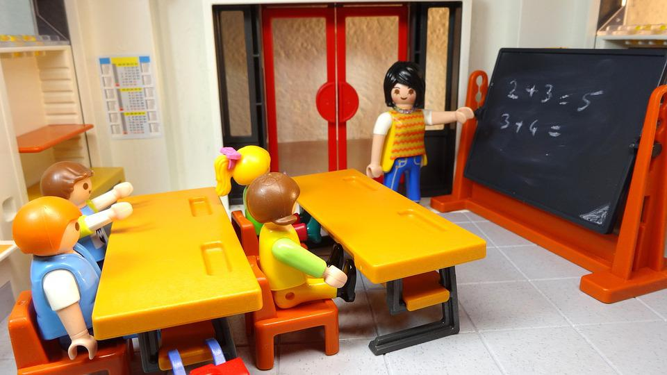 Classroom Decoration Games Free ~ Playmobil school children · free photo on pixabay